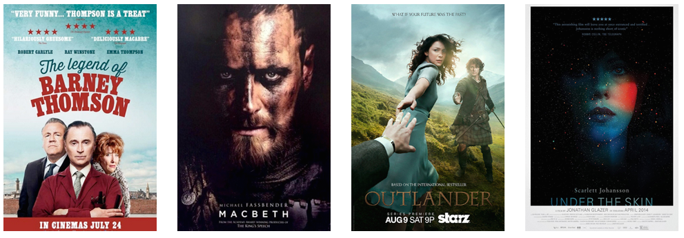 Barney Thomson, Macbeth, Outlander and Under The Skin